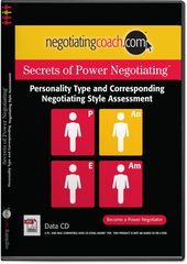 Secrets of Power Negotiating® Personality Type and Corresponding Negotiating Style Assessment Data CD