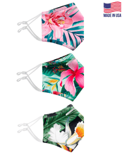 Tropic 3 Pack Of Ultra Premium Anti-Microbial, Moisture Wicking & Adjustable Ear Loop Face Mask