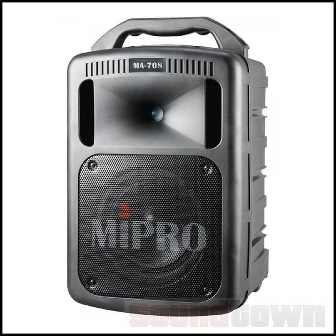 MIPRO MA708CDMB-5 PORTABLE PA WITH 1 RECEIVER AND CD/USB/BT PLAYER