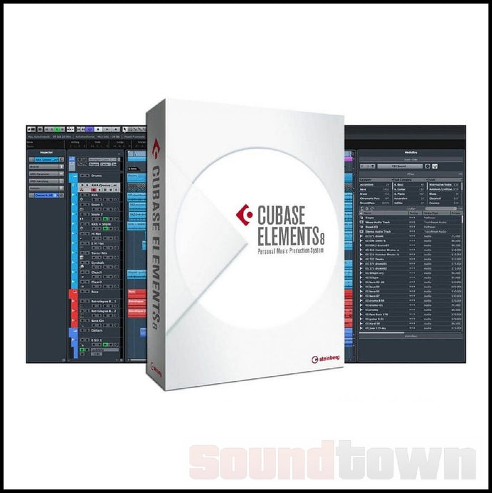 STEINBERG CUBASE ELEMENTS 8 DAW SOFTWARE (WITH FREE UPDATE TO CURRENT VERSION)
