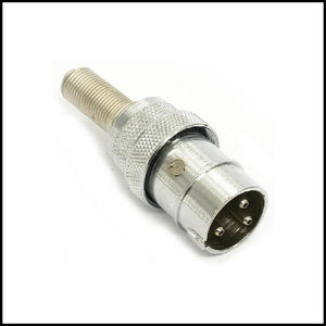 AMPHENOL MC3M 3 POLE POLARISED/INDEXED MICROPHONE CONNECTOR XLR MALE