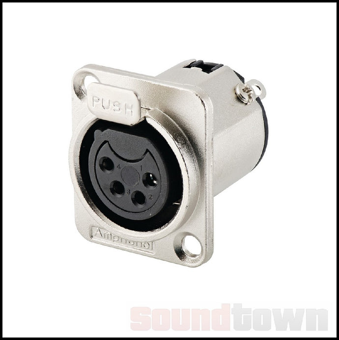 AMPHENOL AC4FDZ 4-PIN PANEL MOUNT XLR CONNECTOR (C)