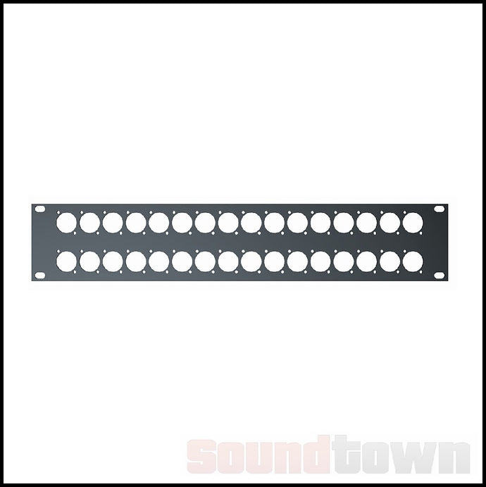 QUIKLOK RS295 RACK PANEL 2RU 32 HOLES
