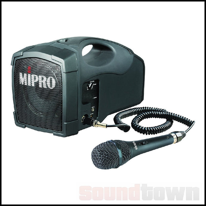 MIPRO MA101PA PORTABLE 45W SYSTEM WITH WIRED MICROPHONE