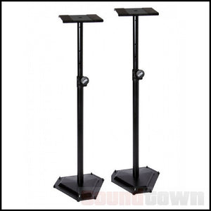 ONSTAGE OSSMS6600P DELUXE STUDIO MONITORS STANDS WITH HEX BASE (PAIR)