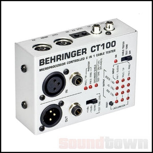 BEHRINGER CT100 PROFESSIONAL 6-IN-1 CABLE TESTER