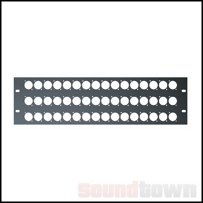 QUIKLOK RS297 RACK PANEL 3RU 48 HOLES