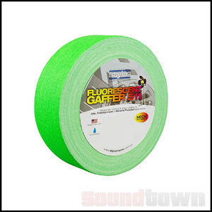 STYLUS 511 FLURO/NEON GAFFER TAPE 48MM X 45M GREEN