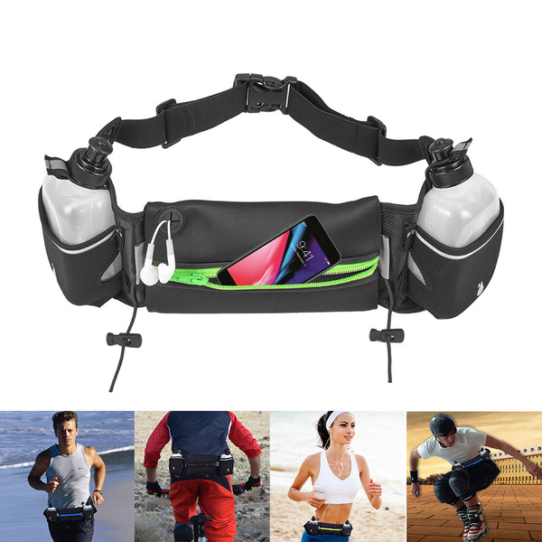 Multi-Functional Active Exercising Fitness Pouch With Water Bottles - ratchetmobile