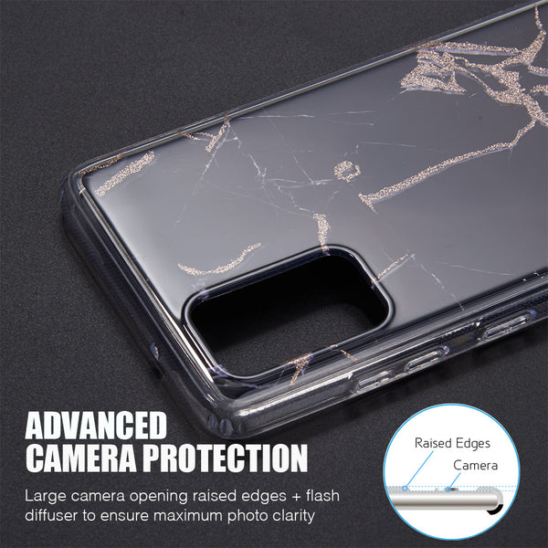 "Samsung Galaxy S20 Plus 6.7"" Inch Screen Slim Marble Sparkle - ratchetmobile 