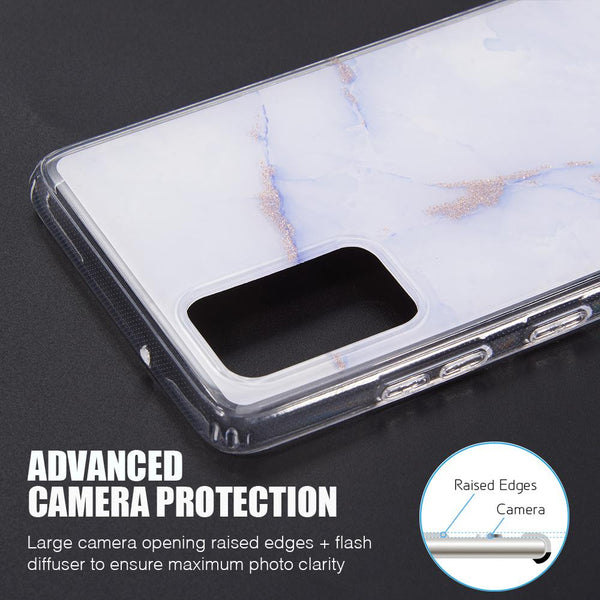 "Samsung Galaxy S20 6.2"" Inch Screen Slim Marble Sparkle - ratchetmobile 
