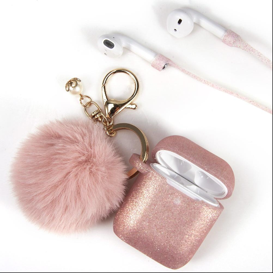 Furbulous Series 3 in 1 Furball Air Pod Case with Keychain & Head Phone Strap - ratchetmobile