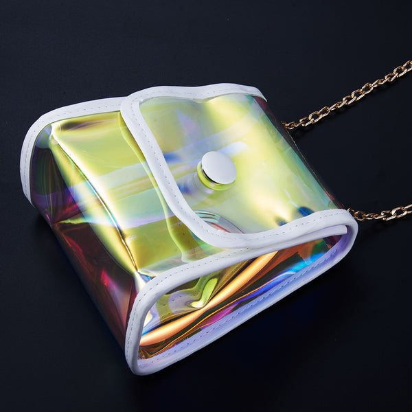 Clear Iridescent Holographic Mini-Purse - ratchetmobile | Phone cases for Apple iPhone 11 pro, Apple iPhone pro max and phone accessories