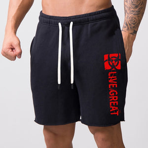 Casual Cotton Jogger Fitness Bodybuilding Short Zip Pocket Loose Large Sizes M-5XL