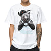Full Cotton 3D Bear Print T-Shirt Short Sleeve Funny Harajuku Plus Size S-3XL