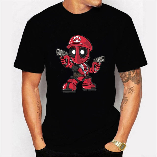 Deadpool T-Shirt Casual Short Men Tops Cool Clothes Streetwear