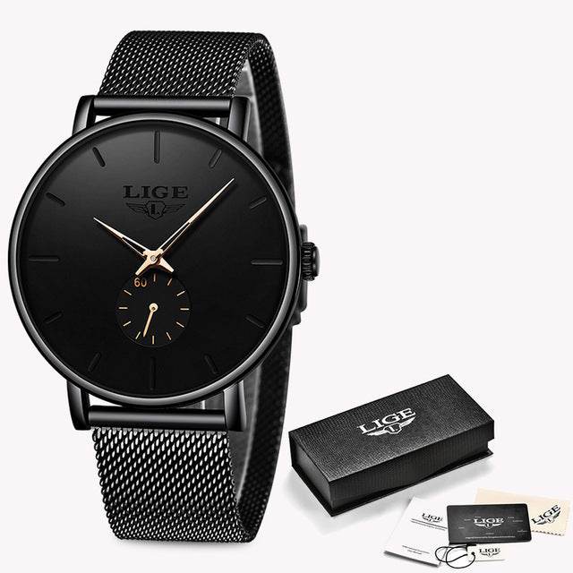 Fashion Business Men Watch Top Brand Luxury Waterproof Casual Simple Quartz