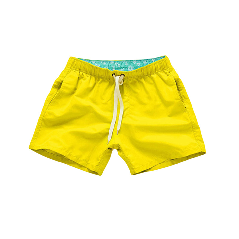 Quick Dry Casual Shorts For Men Beach Summer With Pockets Fitness Exercise Lace-up