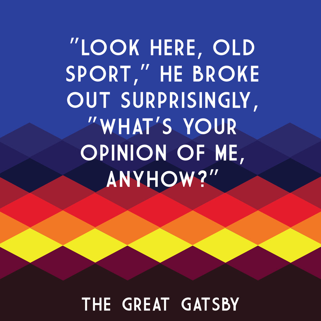 The Great Gatsby - Old Sport book quote