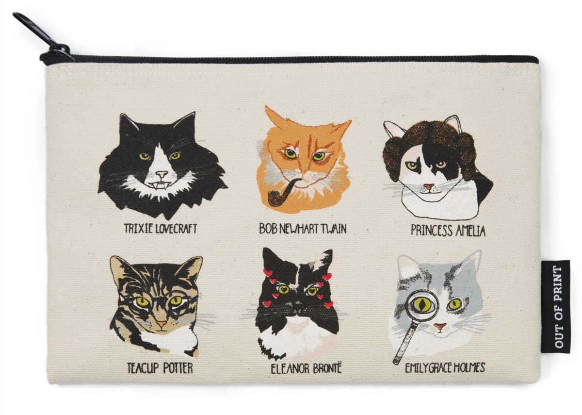 Bookstore Cat Pouch - front - for Independent Bookstore Day
