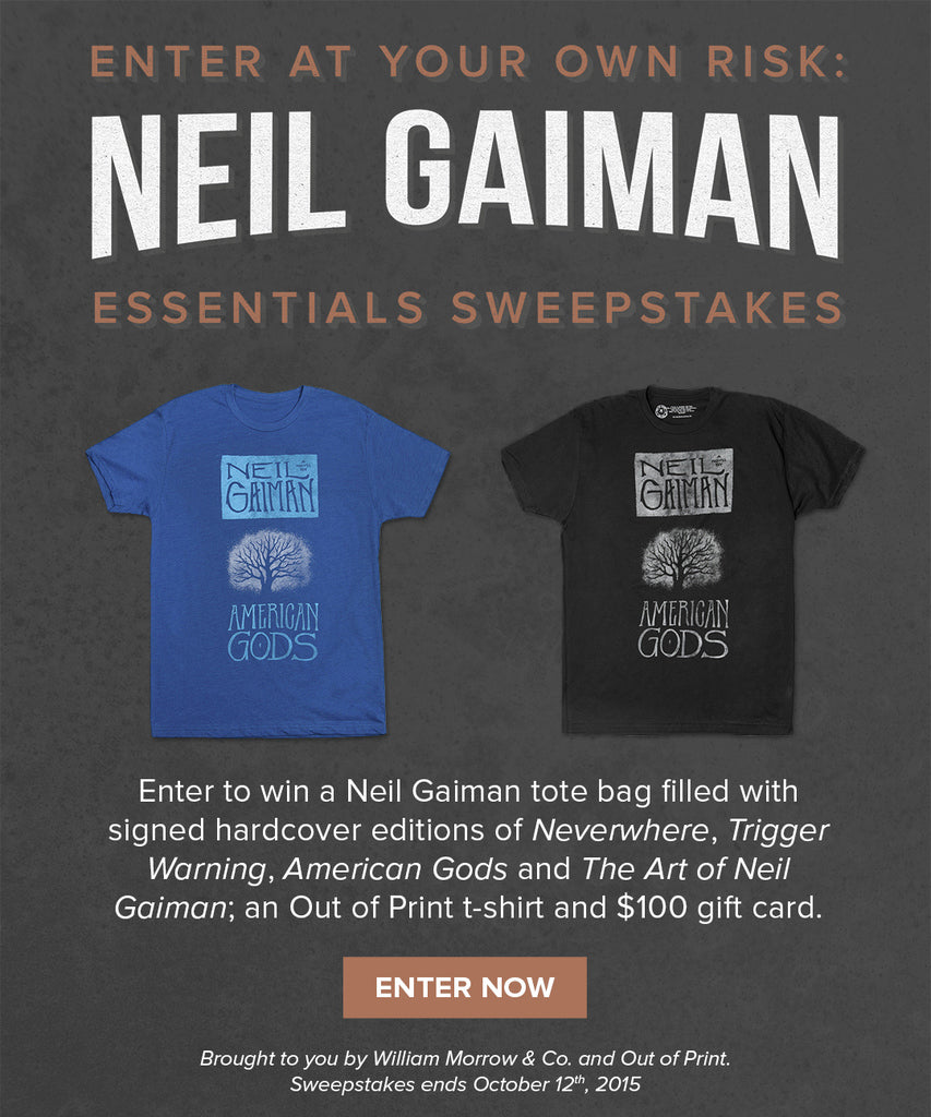Design your own t-shirt for under $10 - Neil Gaiman Sweepstakes