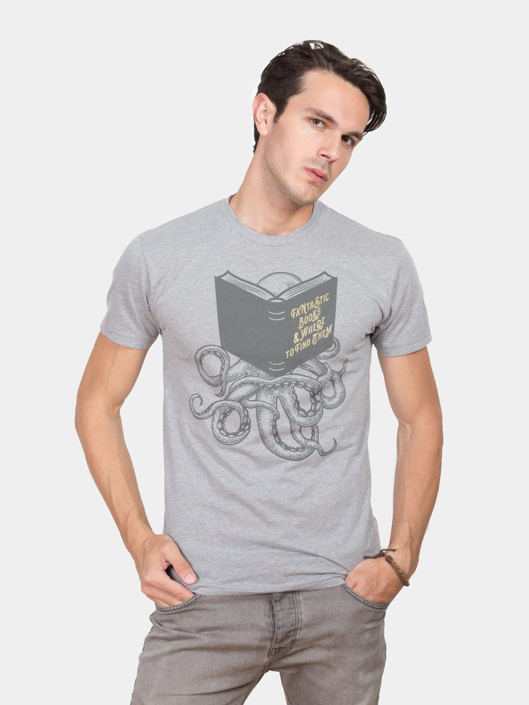 Fantastic books where to find them mens unisex t shirt for Books printed on t shirts
