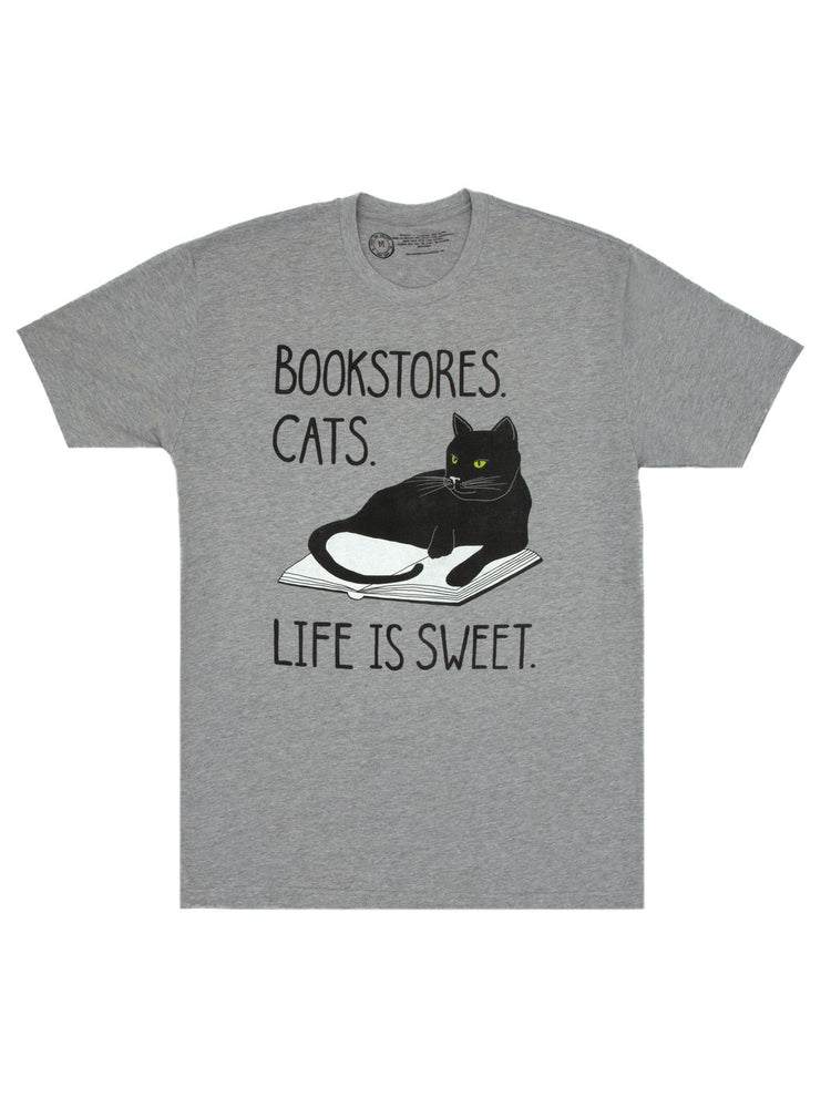 Bookstore Cats Unisex T-Shirt