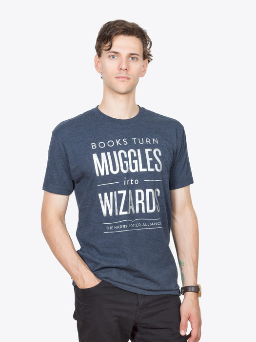 Books Turn Muggles into Wizards Unisex T-Shirt