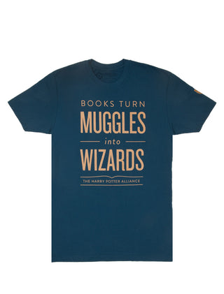 Books Turn Muggles into Wizards (Ravenclaw) Unisex T-Shirt