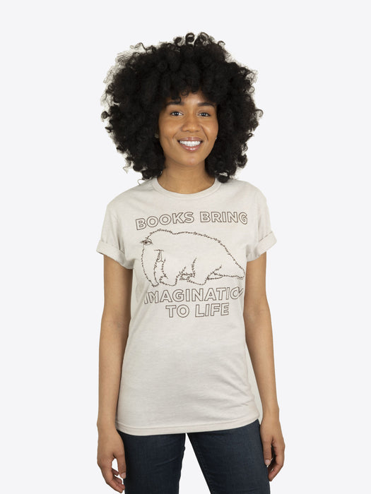 Books Bring Imagination to Life Unisex T-Shirt