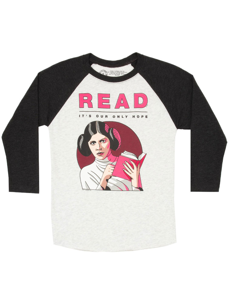 Princess Leia Star Wars READ Unisex 3/4-Sleeve Raglan