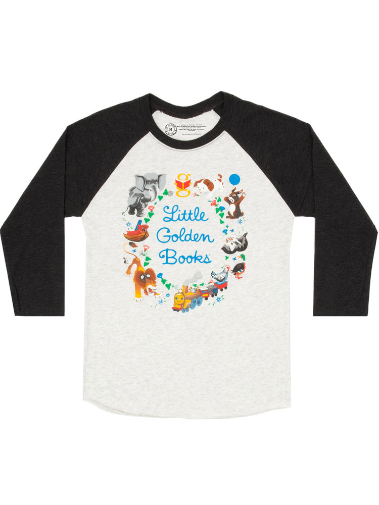 Little Golden Books Unisex 3/4-Sleeve Raglan