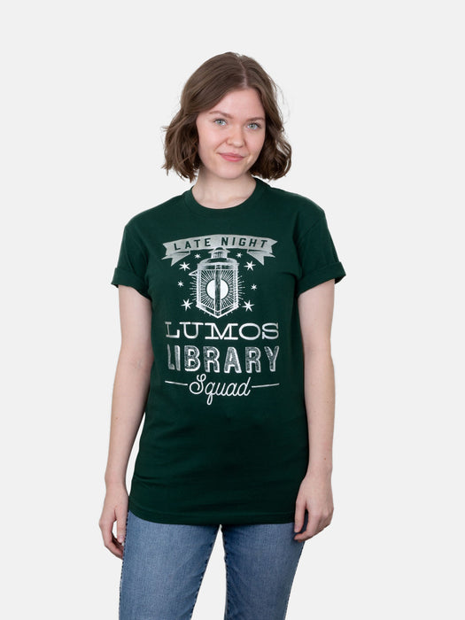 Lumos Library Squad (Glow in the Dark - Green) Unisex T-Shirt