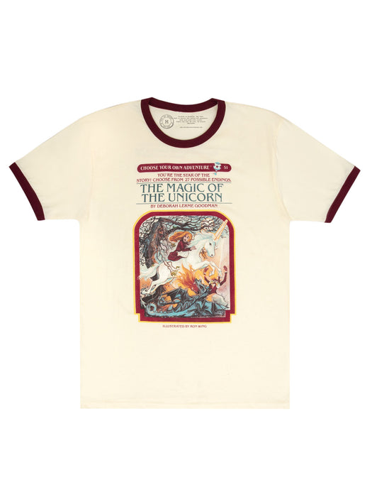 Choose Your Own Adventure: The Magic of the Unicorn Unisex Ringer T-Shirt