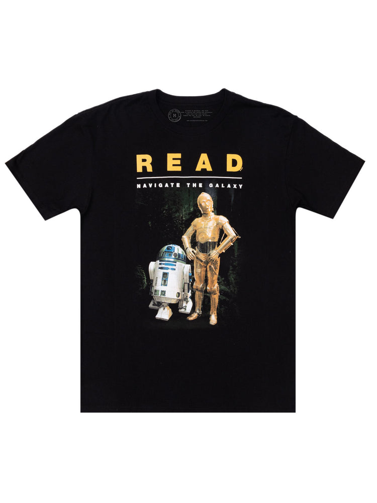 R2-D2 and C-3PO Star Wars READ Unisex T-Shirt