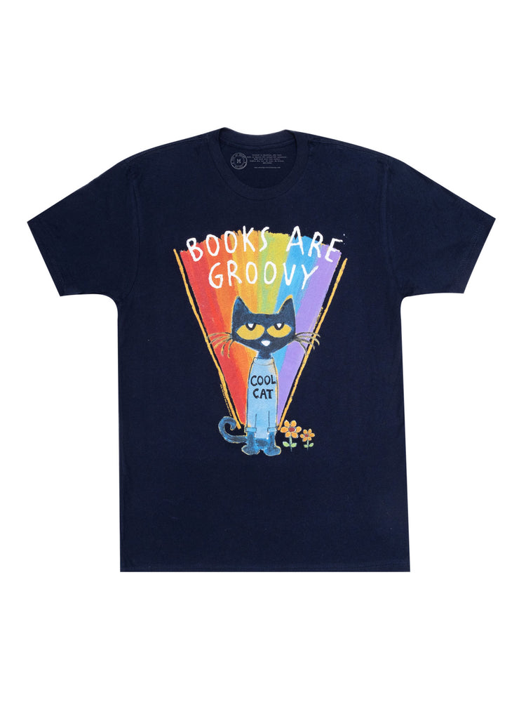 Pete the Cat - Books are Groovy Unisex Ringer T-Shirt