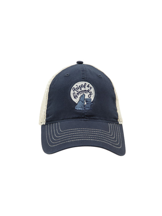 Raised by Books trucker cap