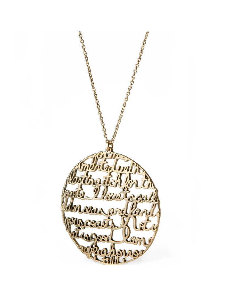 "Moby-Dick ""I Love to Sail"" necklace"