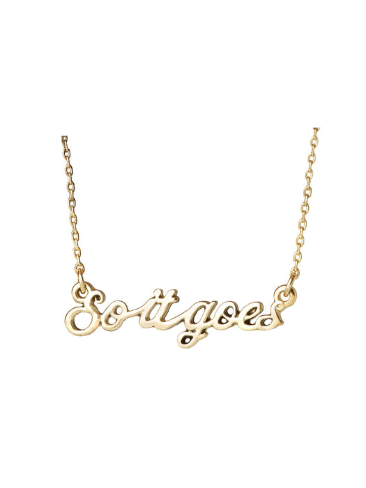 "Slaughterhouse-Five ""So it goes"" necklace"