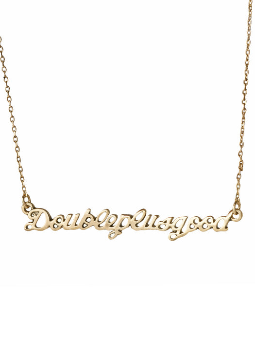 "1984 ""Doubleplusgood"" necklace"