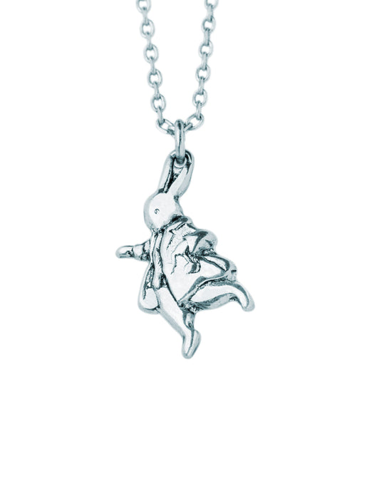 Alice in Wonderland - Down the Rabbit Hole: Silver necklace