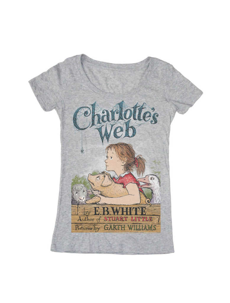 Charlotte Web Women Book Shirt Out Print