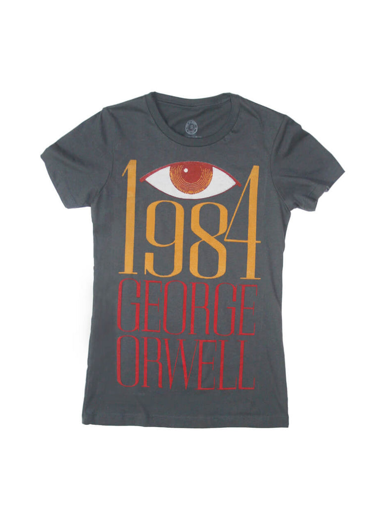 1984 orwell women 39 s book t shirt out of print for Books printed on t shirts