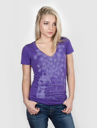 Pride and Prejudice (Light Purple) Women's V-Neck T-Shirt