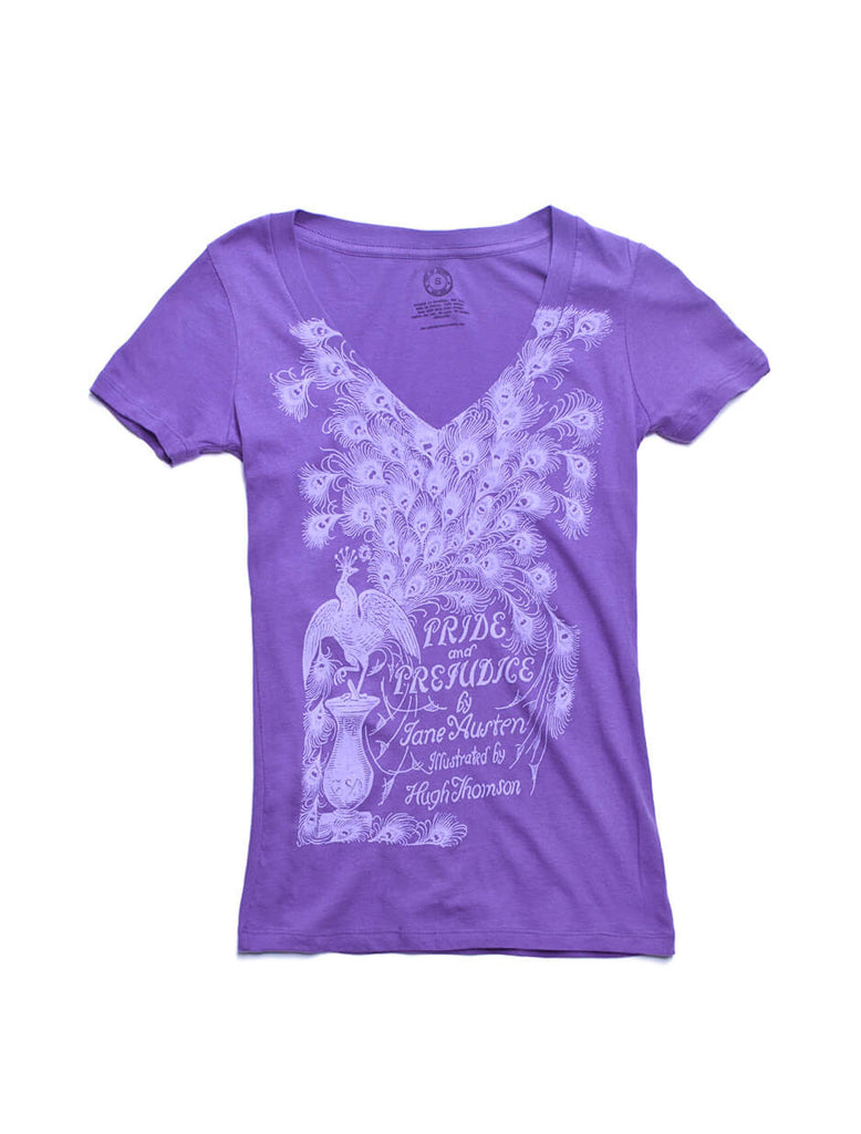 pride and prejudice women s purple book t shirt out of print pride and prejudice purple women s t shirt