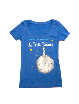 The Little Prince (Royal Blue) Women's Scoop T-Shirt
