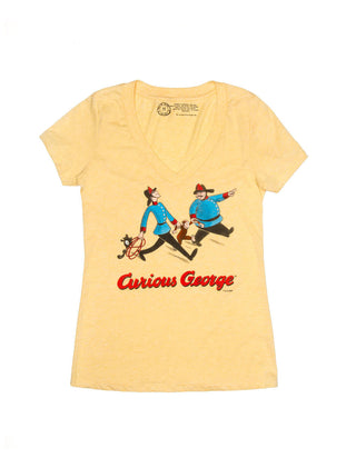 Curious George (Yellow) Women's V-Neck T-Shirt