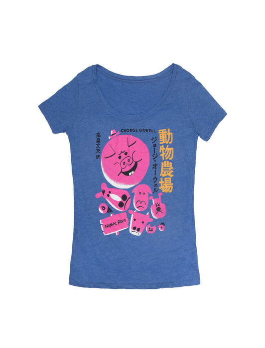 Animal Farm (Japanese Edition) Women's Scoop T-Shirt