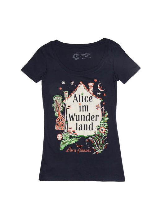 Alice in Wonderland (German Edition) Women's Scoop T-Shirt