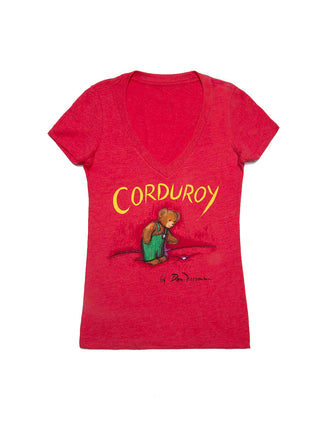Corduroy Women's V-Neck T-Shirt